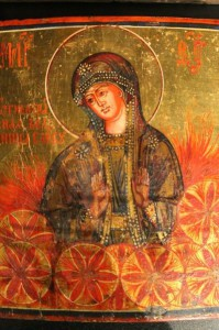 икона Мария Огненная облач солнце