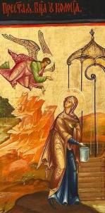 пресвятая богородица у колодца